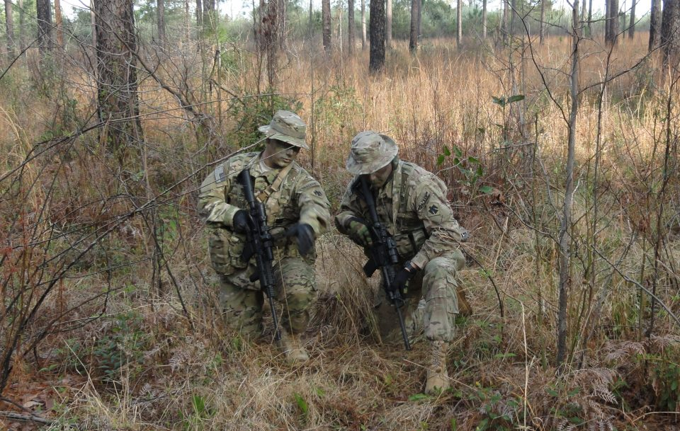 U.S. Army National Guard Soldiers conducting our Tracking Course.
